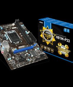 MSI H81M-P33 DDR3 4th Gen LGA1150 Socket Mainboard